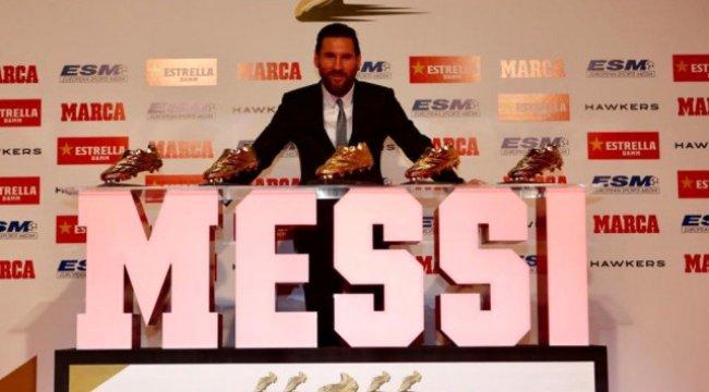 Lionel Messi 5. Kez Altın Ayakkabı'nın Sahibi Oldu