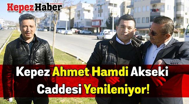 Kepez Ahmet Hamdi Akseki Caddesi Yenileniyor!