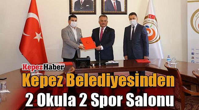 Kepez Belediyesinden 2 Okula 2 Spor Salonu