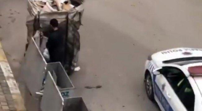 Trafik Polisleri Kağıt Toplayıcısına Kumanyalarını Verdi