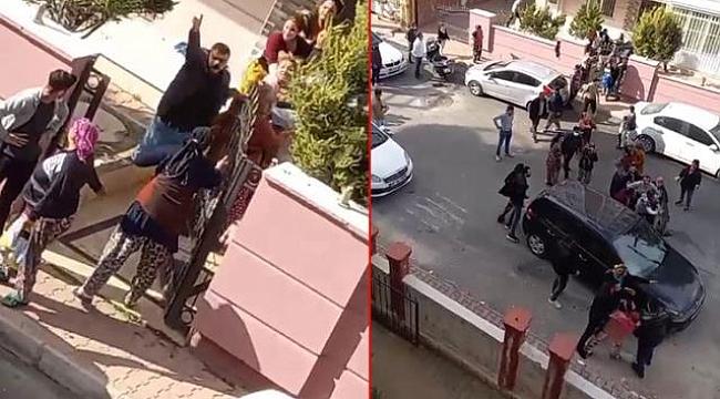Komşu İki Aile Sokakta Birbirine Girdi