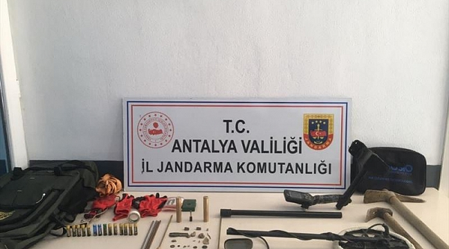 Antalya'da Kaçak Kazı Yapan Bir Kişi Yakalandı