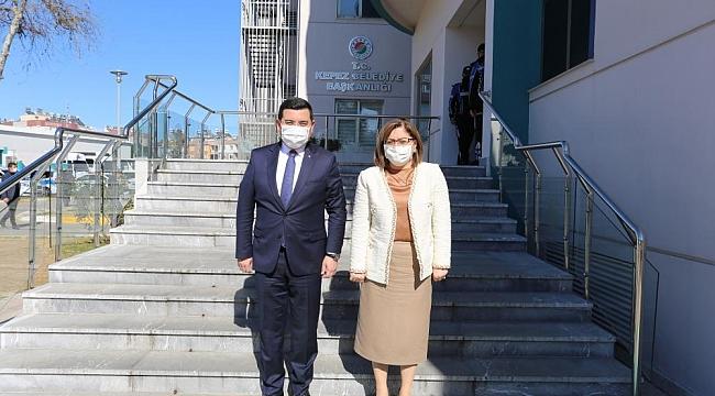 Gaziantep Belediye Başkanı Fatma Şahin'den Kepez Belediyesine Ziyaret
