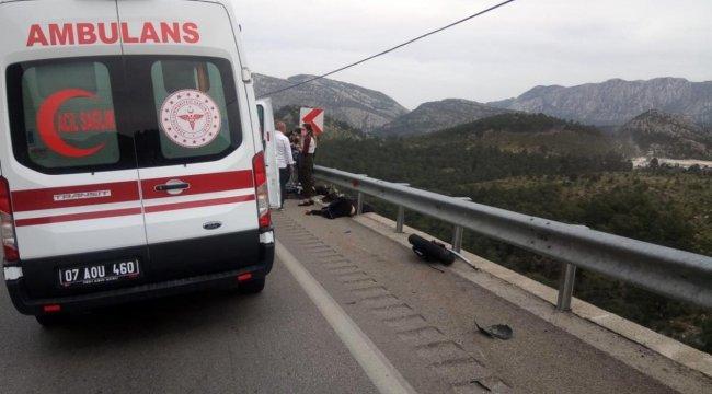 Antalya'da Motosiklet Kazası!