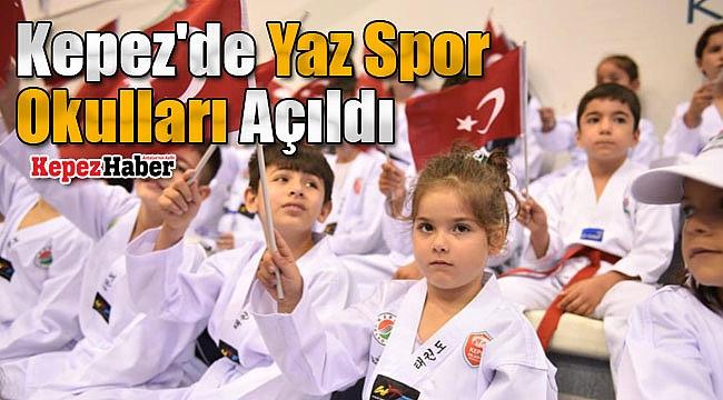 Kepez'de Yaz Spor Okulları Açıldı